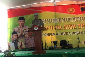 Menjaga Negara Kesatuan Republik Indonesia dan Tak Mudah Terprofokasi Serta Tangkal Stikma Radikalisme Polda Jateng Kunjungi Pondok Pesantren Alhuda Candi Gatak Boyolali