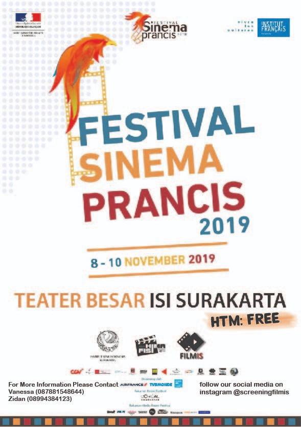 FESTIVAL SINEMA PRANCIS 2019 akan hadir di kota Solo