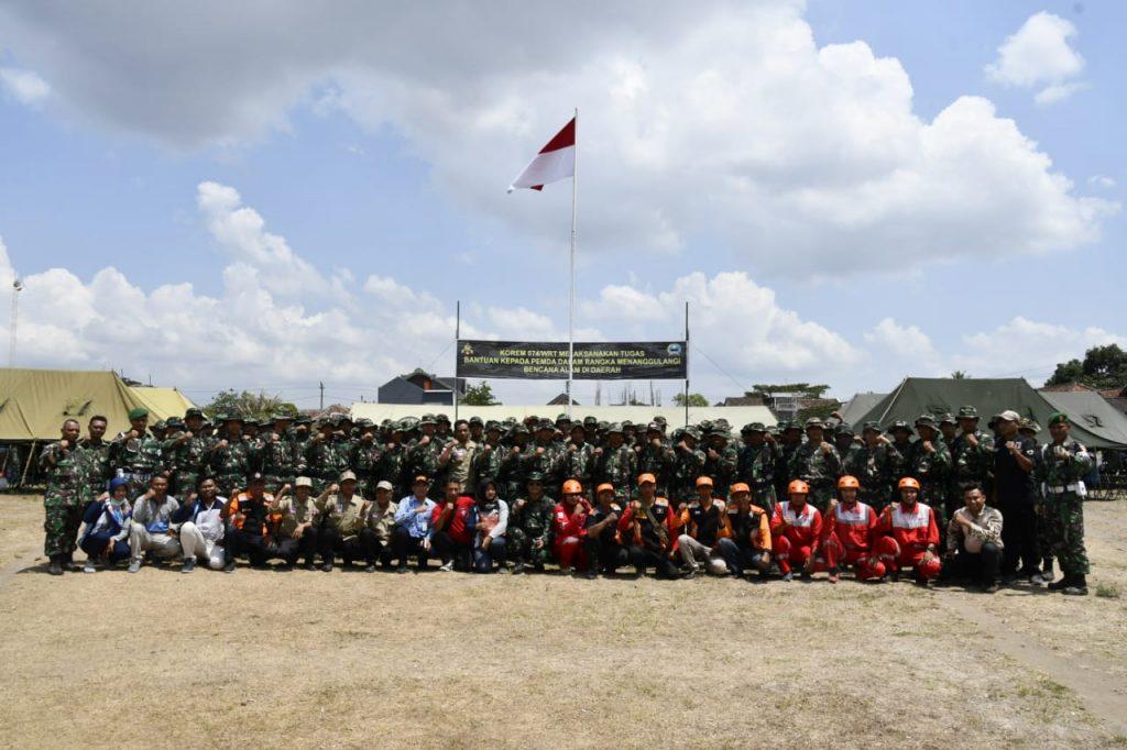Kasiops Rem 074/Warastratama Tutup Latihan Penanggulangan Bencana