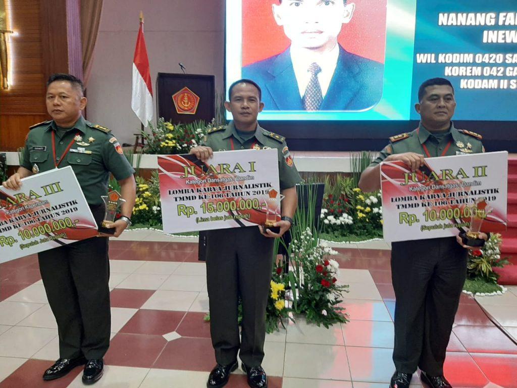 Kodim 0703/Cilacap Kembali Sabet Juara Lomba Karya Jurnalistik TMMD
