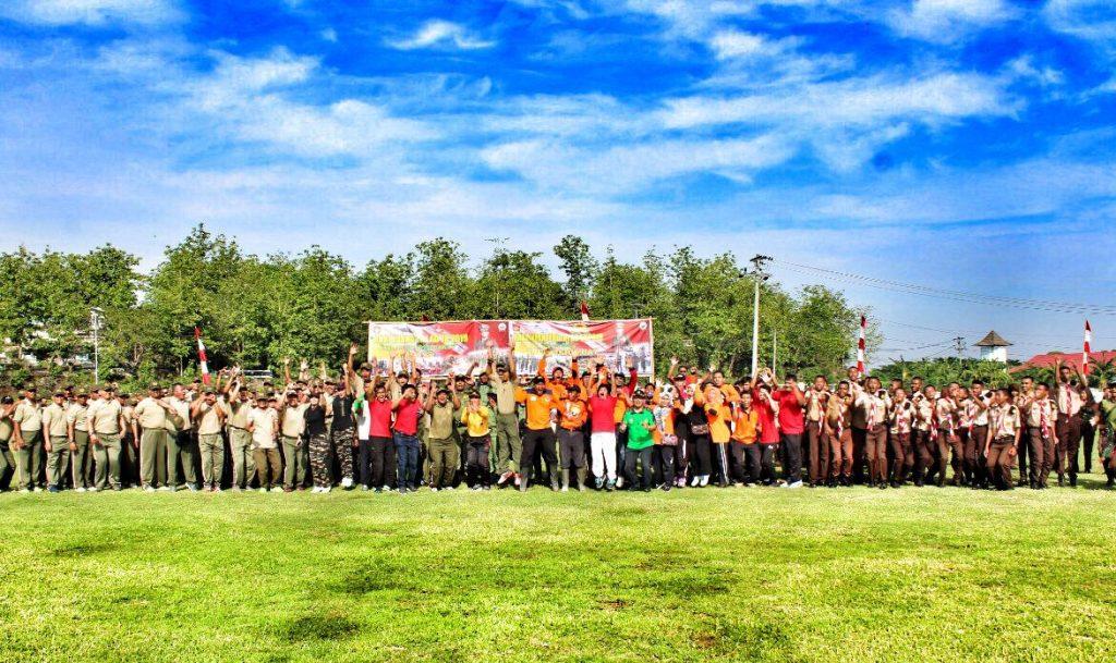 Peringati Hari Juang TNI AD, Kodim Wonogiri Gelar Olah Raga Bersama