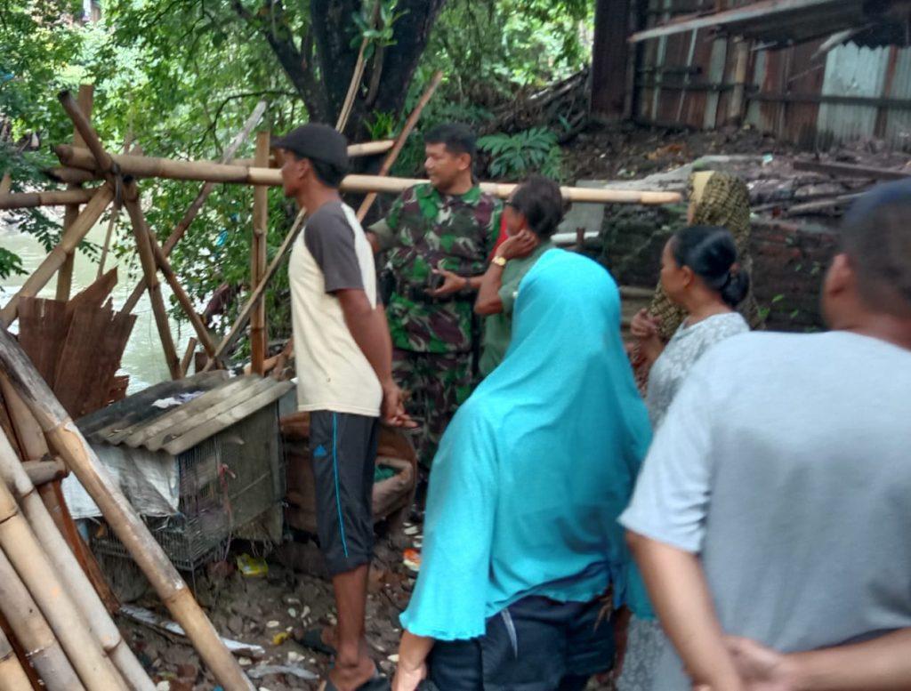 Babinsa Laksanakan Pemetaan Pemetaan Wilayah Bencana