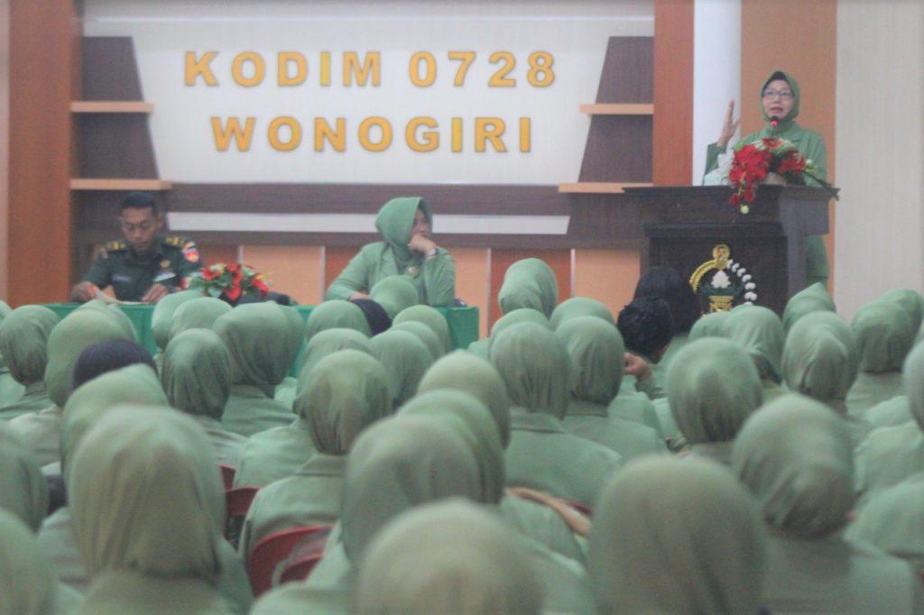 Pertemuan Gabungan Persit KCK Cabang XLIX Dim 0728 Wonogiri, Sarana Pererat Silahturahmi