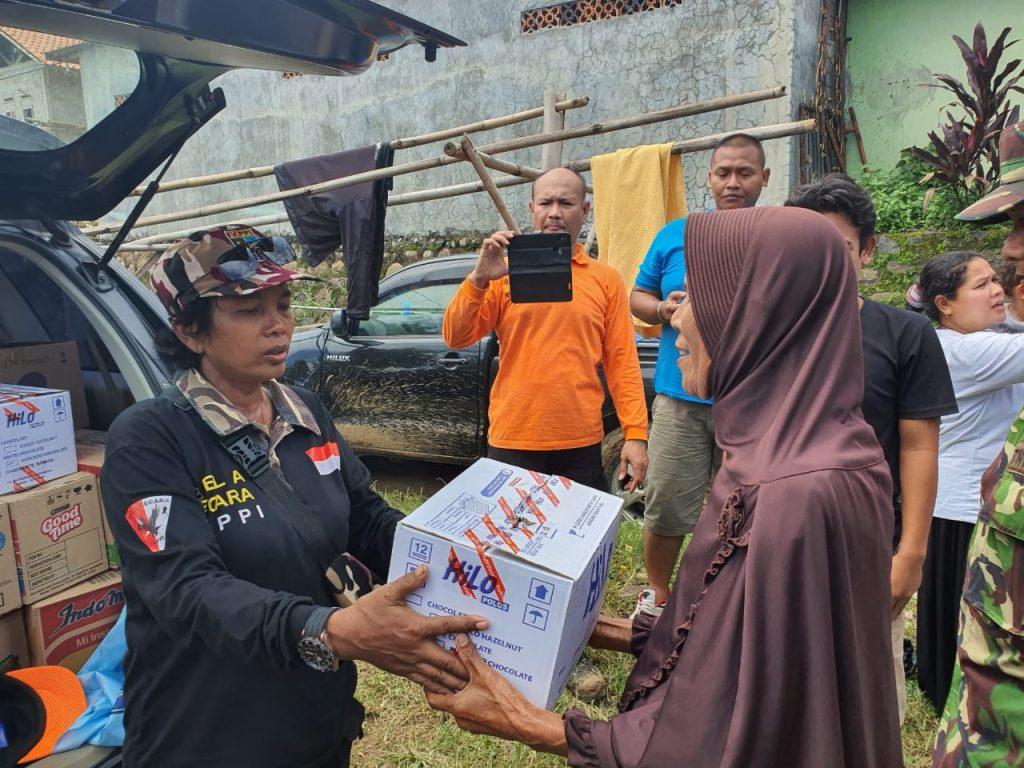 Peduli Bencana Alam di Jasinga Bogor, FKPPI Terjun Langsung Berikan Bantuan