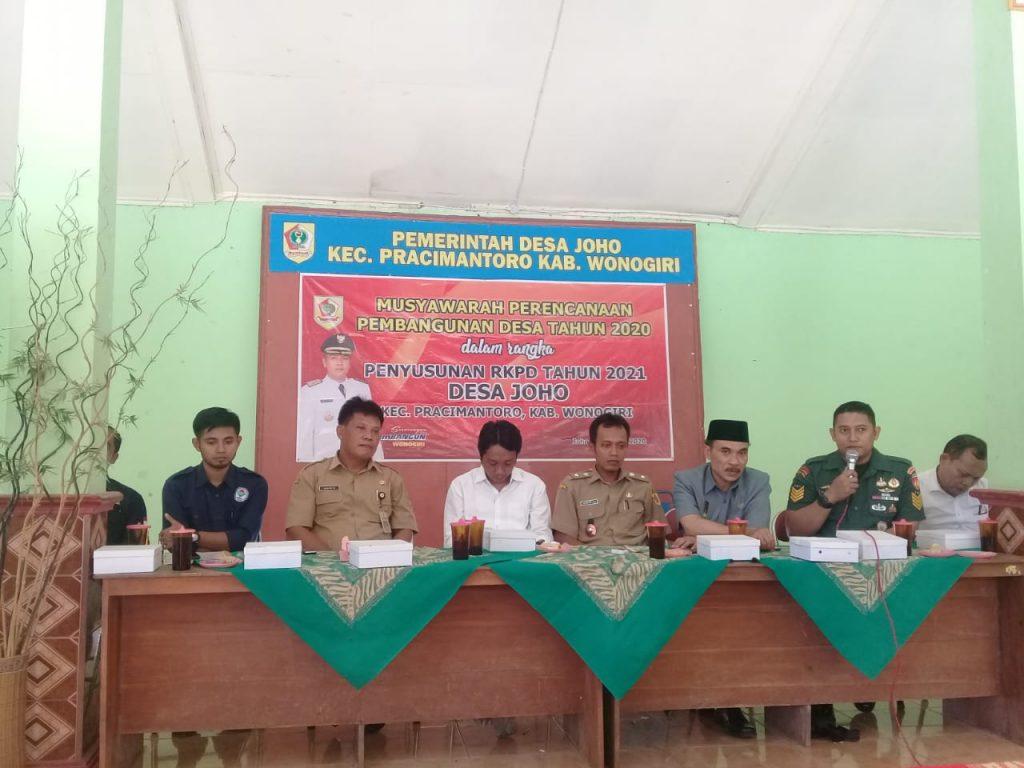 Pelaksanaan Musrenbangdes Serentak Di Kecamatan Pracimantoro