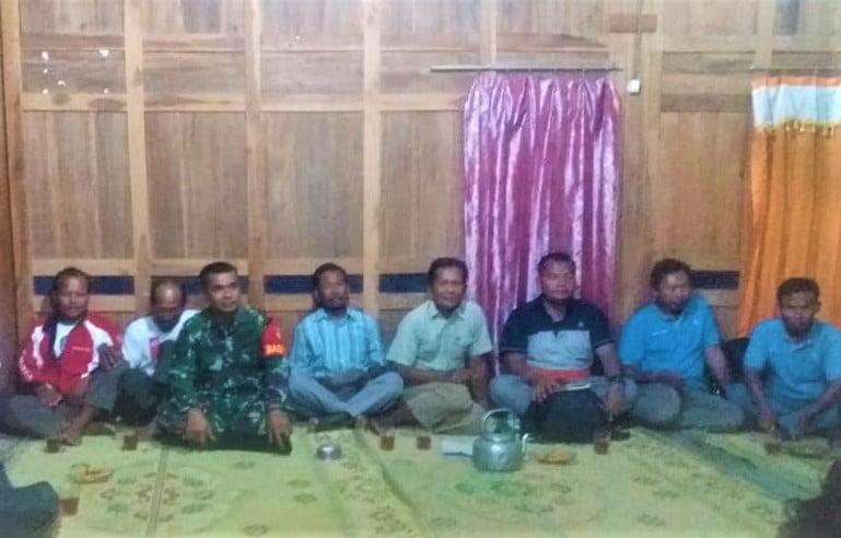 Pertemuan Rutin Bulanan, Serka Munthe Tekankan Keamanan Wilayah