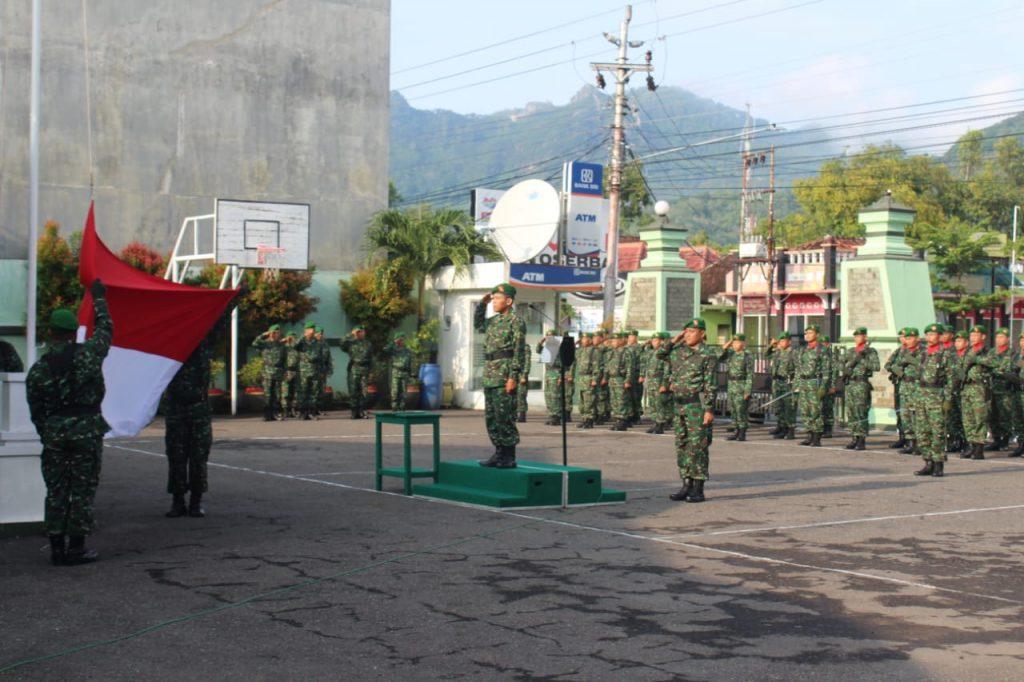 Awali Minggu Militer, Kodim 0728/Wonogiri Gelar Upacara Bendera