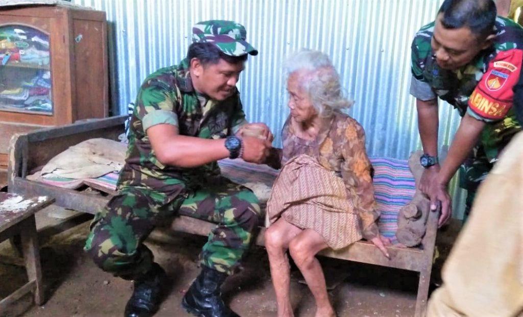Mbah Warginah : Terima Kasih TNI Telah Peduli Kepada Masyarakat Kurang Mampu