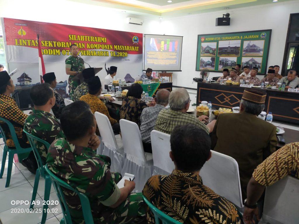 Kodim Solo Gelar Silaturahmi Lintas Sektoral Dan Komponen Masyarakat, Ini Tujuannya