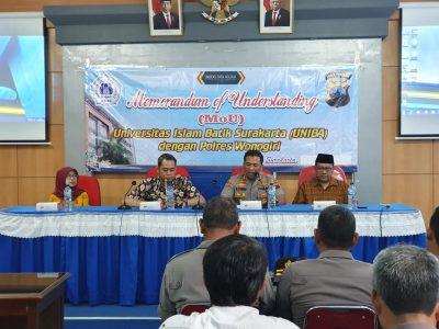 Polres Wonogiri MoU dengan UNIBA Surakarta