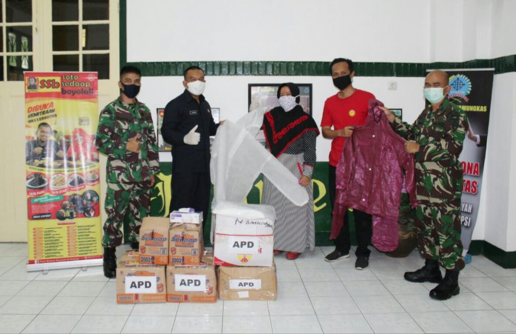 Sebagai Bentuk Apresiasi, Soto Sedaap Hj Widodo Berikan Bantuan APD Kepada Kodim 0734/Yogyakarta