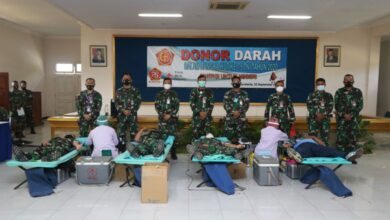 Photo of Sambut HUT ke-75 TNI, Lanud Adi Soemarmo Gelar Donor Darah