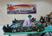 Photo of Dalam Rangka Memperingati HUT TNI ke-75,Kodim 0735/Surakarta Gelar Donor Darah