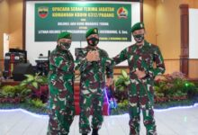 Photo of Brigjen TNI Arief Gajah Mada Danrem 032/Wbr Pimpin Sertijab Dandim 0312/Padang